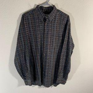 Jhane Barnes Abstract Art Button Shirt M